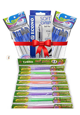 Pen Combo Package Half Yearly  for Office  (Econo Occen Pen - 10 Pcs, Econo Econo Soft grip - 10 Pcs, Econo Tech Point - 10 Pcs)