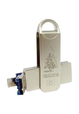 Teutons Mettalic Knight Squared OTG Flash Drive USB 3.1 Gen 1 – 128GB (Silver)