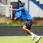 Dinesh Karthik at a practice session
