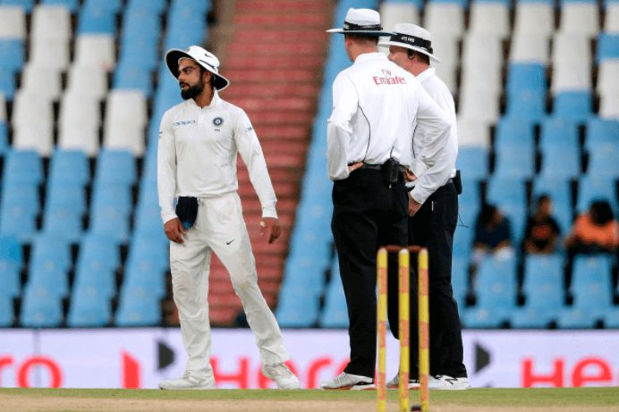 Kohli is fined by ICC for breaching the Player Code of Conduct
