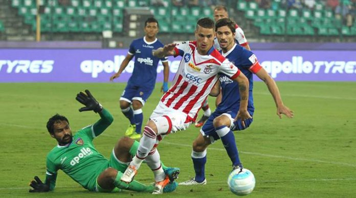 Robbie Keane, Hitesh Sharma score in ATK vs Chennai City FC live score. Read all the updates to get theIndia Super Cup 2018 live scoresakaHero Super Cup 2018 live score,ATK vs Chennai City FC live score,ATK vs CCFCmatch result, highlights and more.