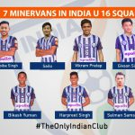 India U16 AFC Cup selects 7 Minerva Punjab FC players