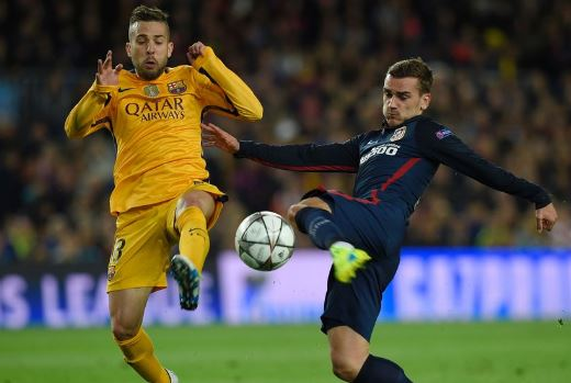 In today's latest Barcelona Jordi Alba has made fun of Antoine Griezmann and taken a swipe at Griezmann's decision of snubbing Barcelona and staying with Atletico Madrid.For the latest Barcelona news, follow www.news.rooter.io.