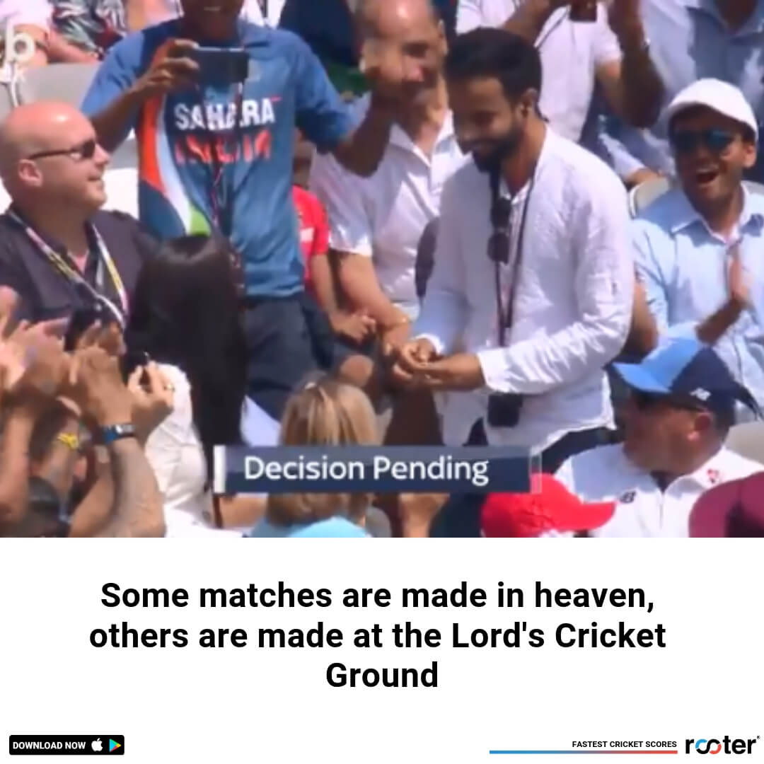 WATCH: Indian couple gets engaged at Lord's during England