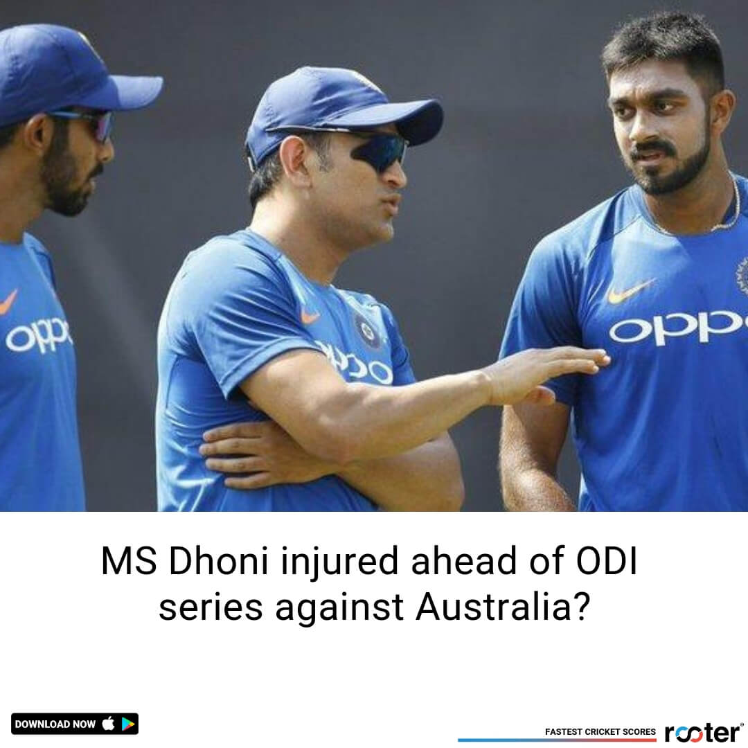 MS Dhoni faces injury scare during practice session ahead of