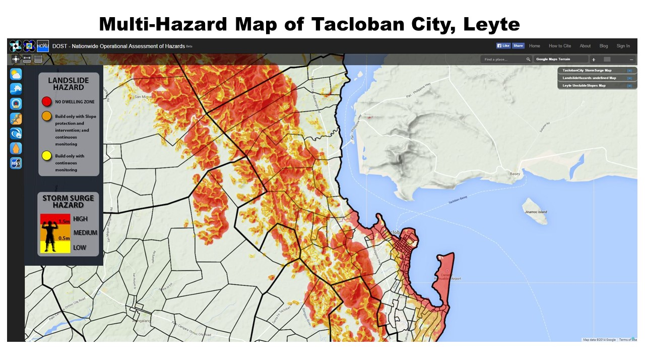 Tacloban Philippines Map.List Of Multihazard Maps Of Municipalities In The Yolanda Corridor