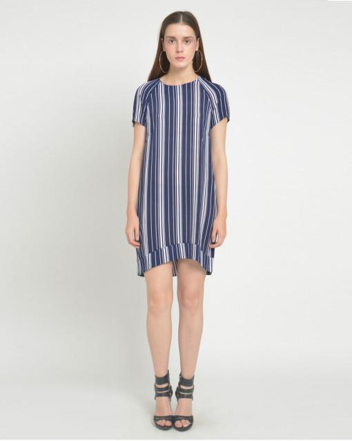 92c3492508 Ardene Striped Mini Blue Dress | ruKuKa