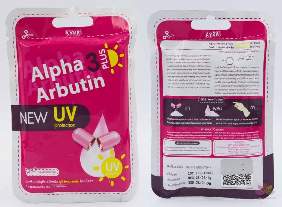 Bột Kích Trắng Alpha Arbutin 3 Plus UV