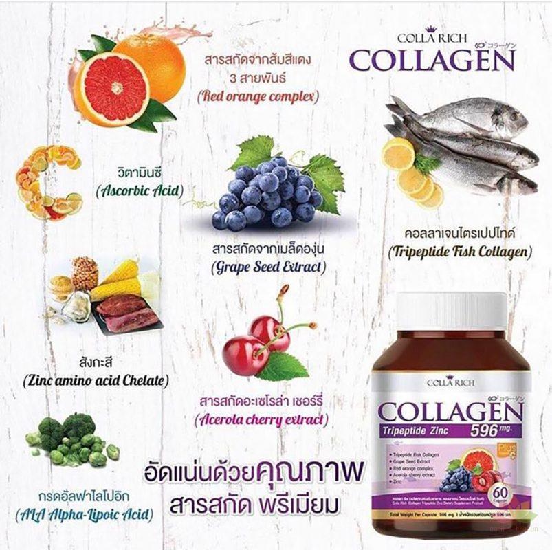Viên uống Colla Rich Collagen bổ xung Collagen