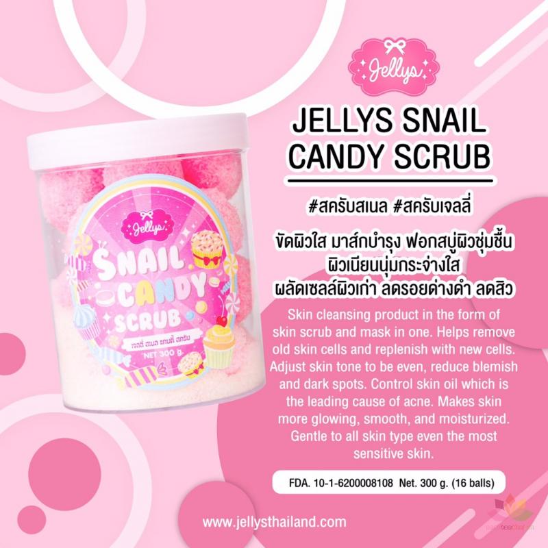 Tẩy tế bào chết Jellys Snail Candy Scrub