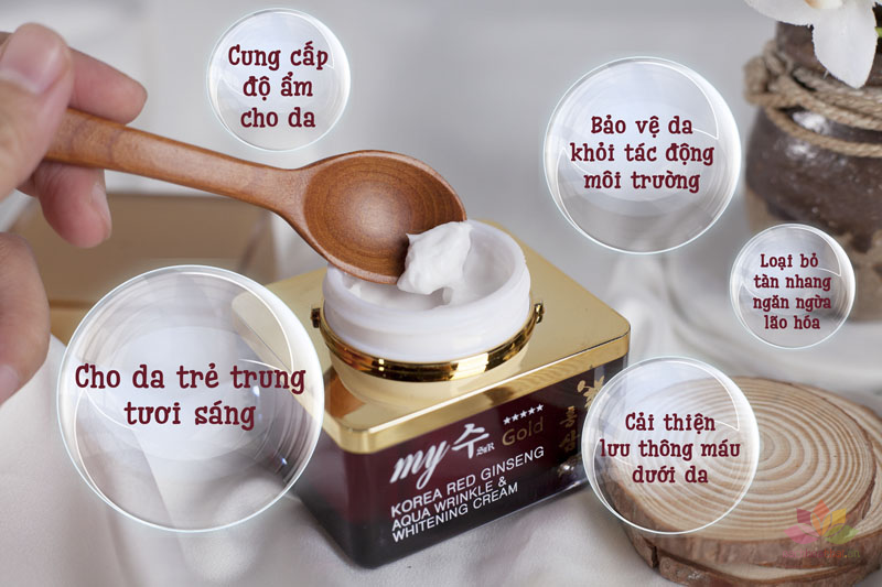 Kem hồng sâm Korea Red Ginseng Aqua Cream ngày & đêm