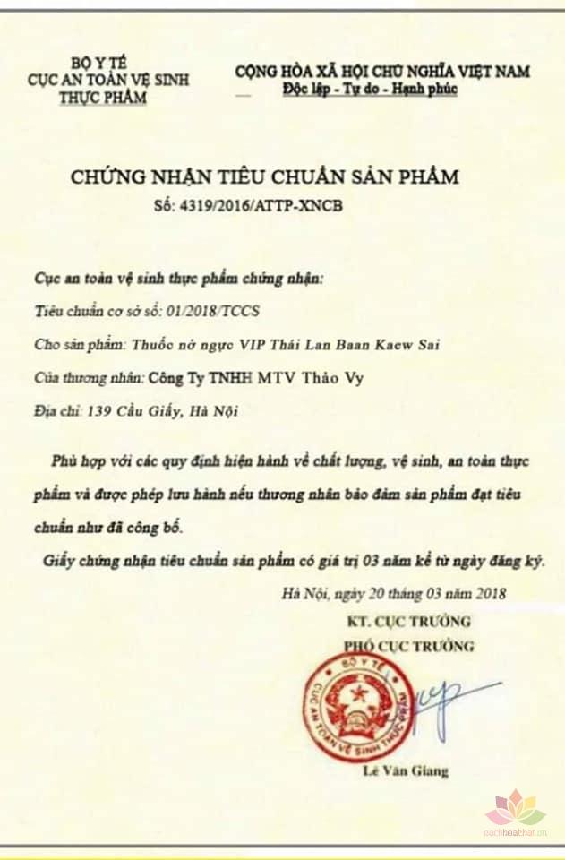 Viên uống bổ sung nội tiết tố Baan Kaew Sai