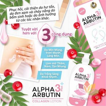 Sữa dưỡng thể Alpha Arbutin Collagen Lotion 3 Plus ảnh 5
