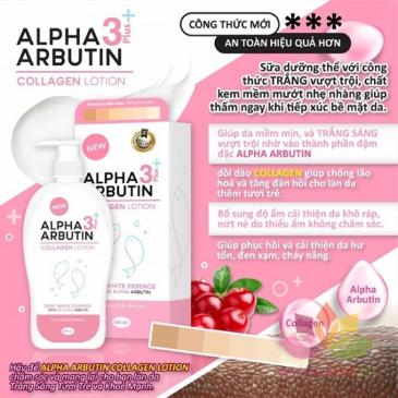 Sữa dưỡng thể Alpha Arbutin Collagen Lotion 3 Plus ảnh 6