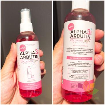 Xịt kích trắng da Alpha Arbutin 3+ Plus Collagen Body White Sray ảnh 2