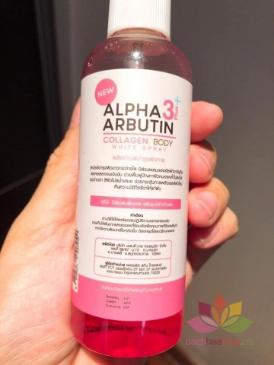 Xịt kích trắng da Alpha Arbutin 3+ Plus Collagen Body White Sray ảnh 5