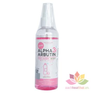 Xịt kích trắng da Alpha Arbutin 3+ Plus Collagen Body White Sray ảnh 1