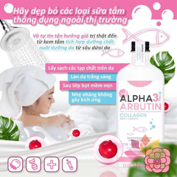 Kem tắm Alpha Arbutin 3+ Plus Collagen Bath Cream  ảnh 2