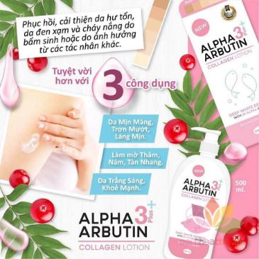 Kem tắm Alpha Arbutin 3+ Plus Collagen Bath Cream  ảnh 3