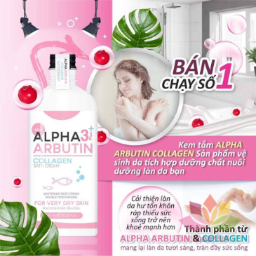 Kem tắm Alpha Arbutin 3+ Plus Collagen Bath Cream  ảnh 4