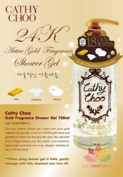 Sữa tắm Cathy Choo Vàng 24K Active Gold  ảnh 8