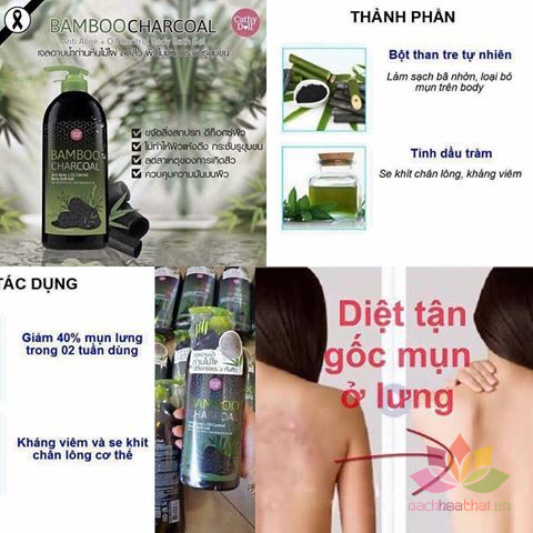 Gel trị mụn Bamboo Charcoal Anti Acne