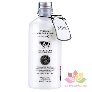 Sữa tắm trắng Scentio Milk Plus Bright & White Shower Cream 450 ml ảnh 1