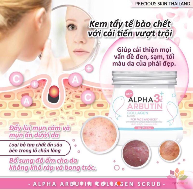 Tẩy tế bào chết Alpha Arbutin 3+ Plus Collagen Scrub