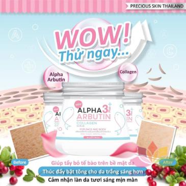Tẩy tế bào chết Alpha Arbutin 3+ Plus Collagen Scrub ảnh 2