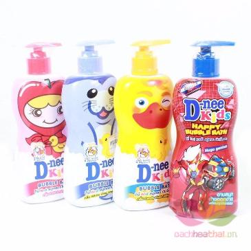 Tắm gội D-nee Kids Bubble Bath cho trẻ trên 3 tuổi ảnh 1