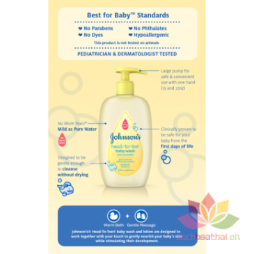 Tắm gội Johnson Baby Top-To-Toe Wash ảnh 2