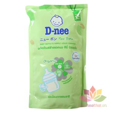 Nước rửa bình sữa Dnee Organic túi 600ml ảnh 1