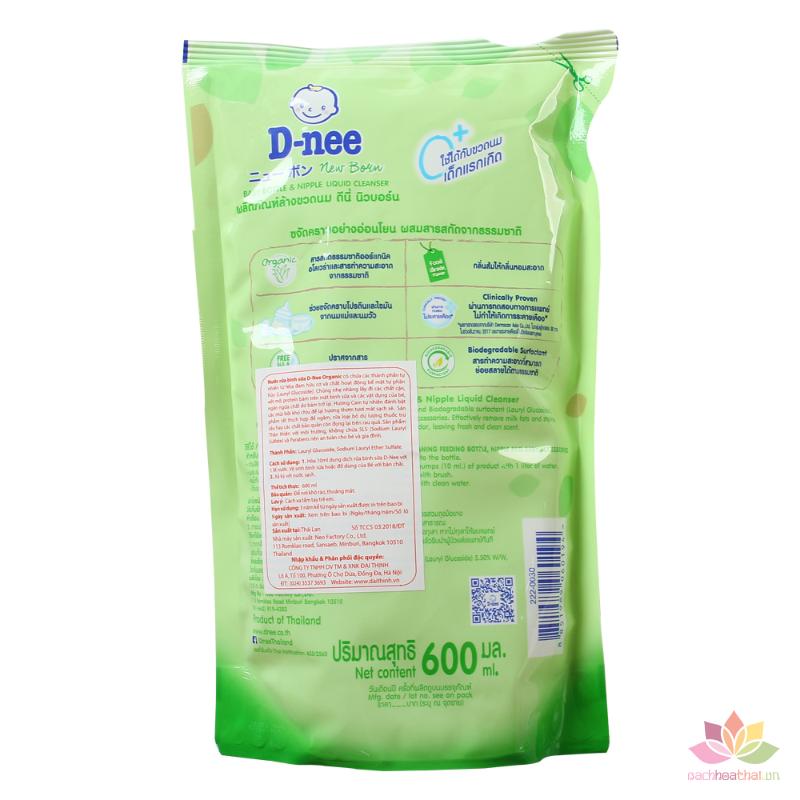 Nước rửa bình sữa Dnee Organic túi 600ml ảnh 3