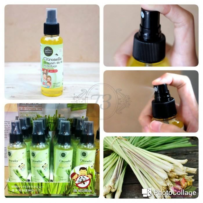 Tinh dầu xịt chống muỗi côn trùng Citronella Phutawan