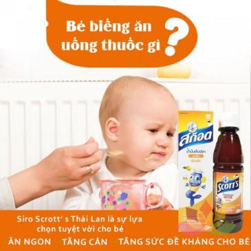 Siro SCOTT'S Emuls Vita Thái Lan Giúp Bé Ăn Ngon Và Mau Tăng Cân ảnh 3