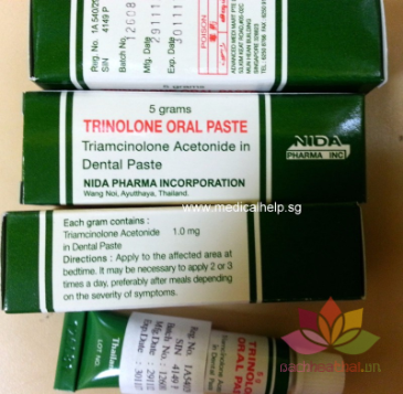 Kem trị nhiệt miệng Trinolone Oral Paste ảnh 5