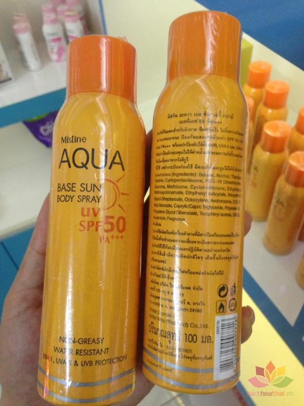 Kem chống nắng dạng xit Aqua ảnh 8