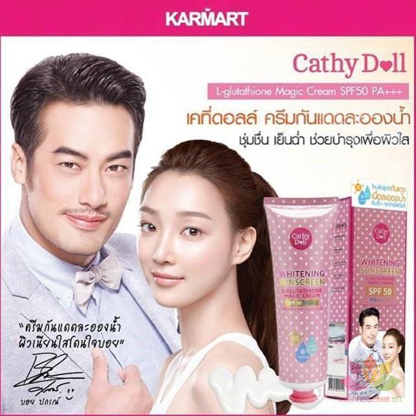 Kem chống nắng trắng da Whitening Sunscreen L-glutathione Magic Cream SPF 50