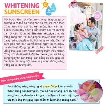 Kem chống nắng trắng da Whitening Sunscreen L-glutathione Magic Cream ảnh 5