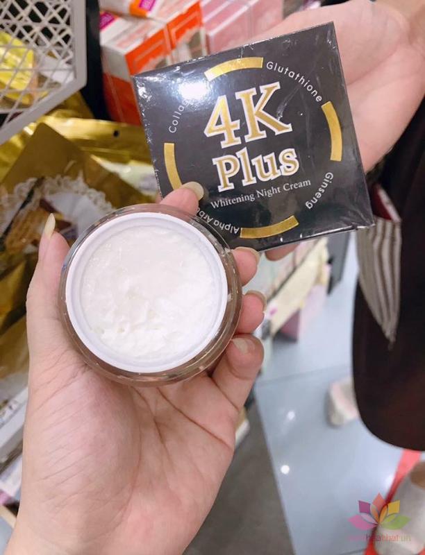 Dưỡng trắng da ban đêm 4K Plus Whitening Night Cream ảnh 5