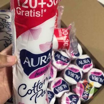 Bông tẩy trang AURA Coton Pads ảnh 2