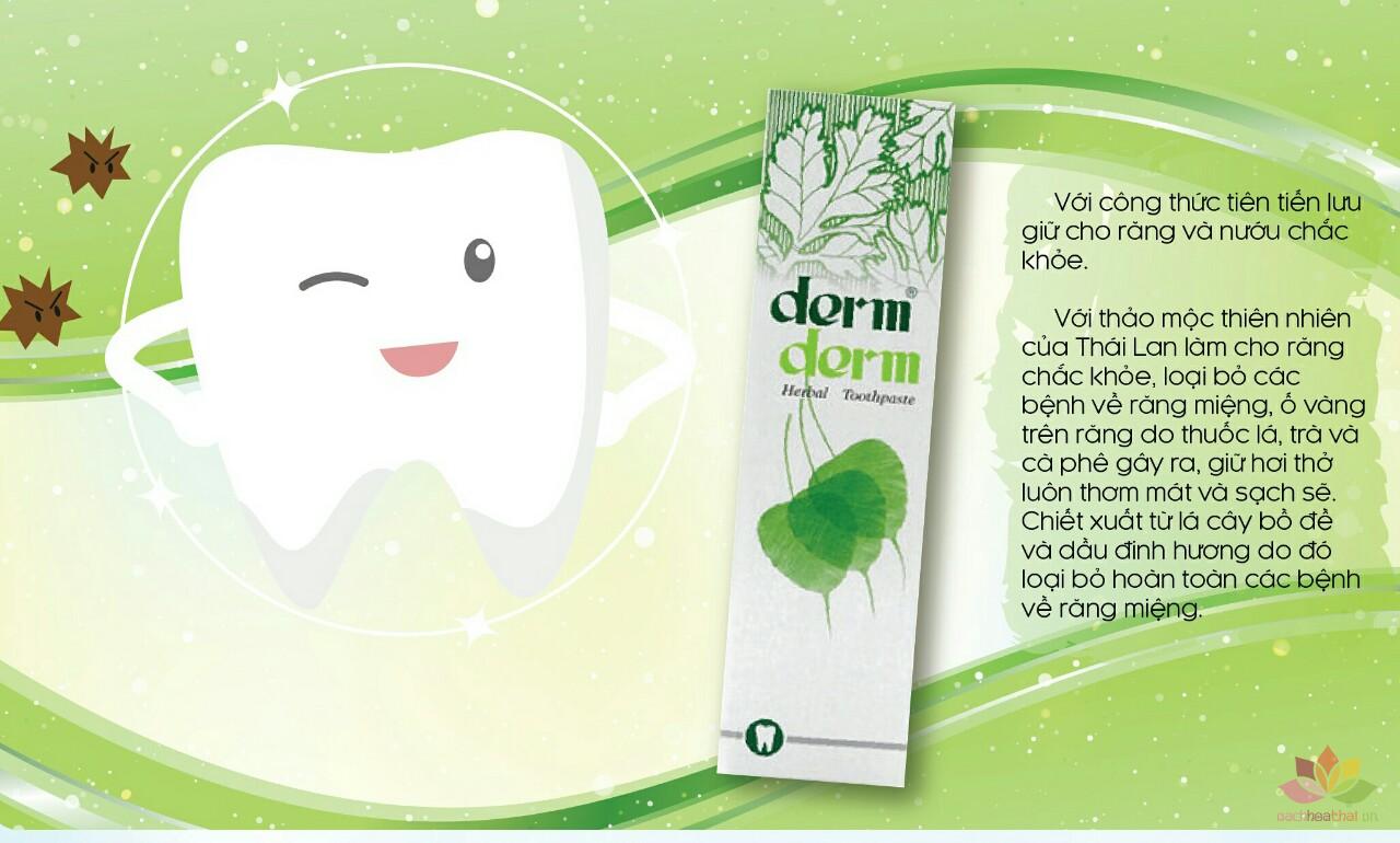 Kem đánh răng thảo dược Derm Derm