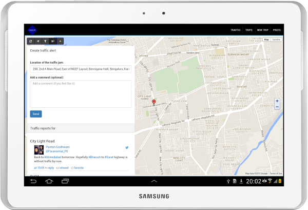 Screenshot of road.lk on a high resolution tablet