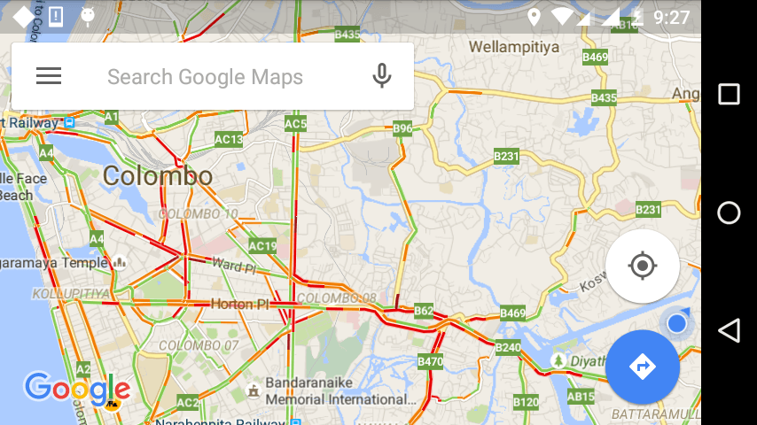 Google Maps Traffic Layer