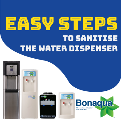 Quick steps to sanitise the water dispenser yourself