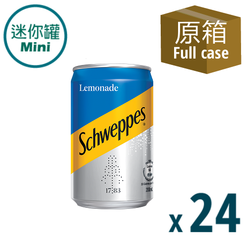 Schweppes Lemonade Mini CAN 200ml 24P