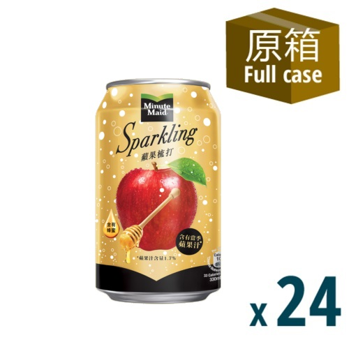 Minute Maid Apple Soda Can 330mL 24P