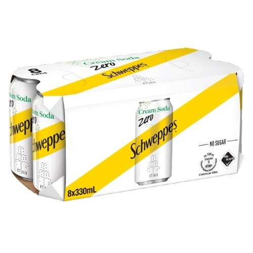 Schweppes Cream Soda Zero 8P
