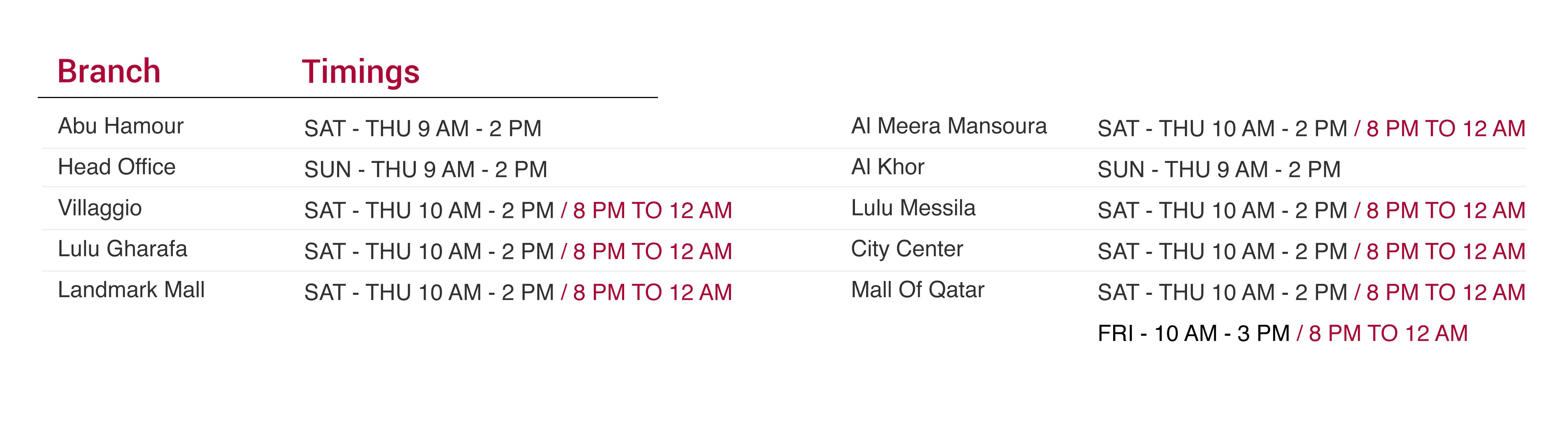 Ramadan Timings-QIC-2019