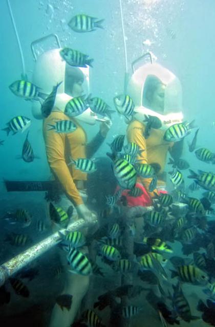 巴厘岛海底漫步